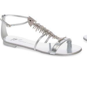 Giuseppe Zanotti Embellished Fish Skeleton Sandals